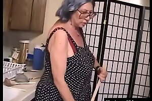 Gray-haired grandmother is seriously fucking old