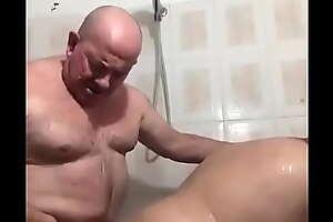 Indian fat daddy fucking his boyfriend in bathroom
