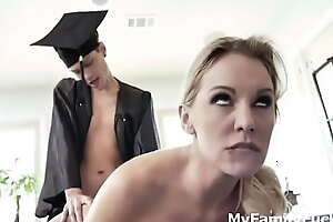 Graduated Stepson gets Reward Fuck From Mom