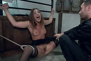 Bank robber bound and fucked