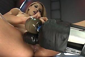 Cute petite Latina fucking machine