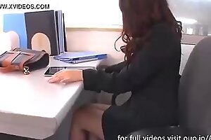 Working Mom Fucks herself in the Ass and Pussy with Sextoys in her Office