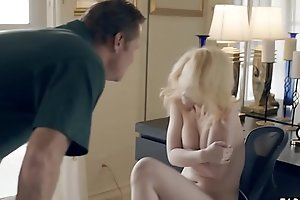 Stepdad whores out his hot blonde teen stepdaughter