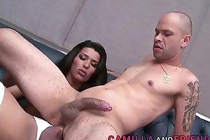 Brazilian Shemale Thaissa Guimaraes Bangs a Guy