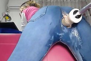 Webcam Girl with Anal Machine - sex free-cam xxx video