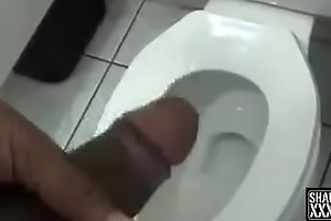 Lucky guy gets Fucked by Random milf in Bathroom