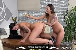 Teen Lesbians Get Nasty With Piss