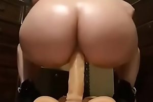SM Bertha real dildo in my ass
