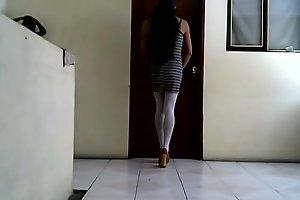 Joselynne Cd Beauty Ass In Stokings And Mini Dress Morenita
