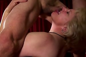 Supe cute chubby old spunker loves fucking and facial cumshots