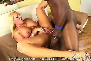 Stunning Cougar Alexis Golden Swallows A Hot Jizz Load