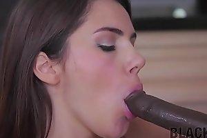 Black4K. Real slut Valentine seduces plumber for hot interracial sex