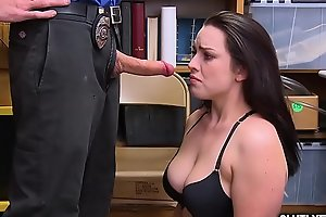 LP Officer ask Raven Reign for a hot blowjob!