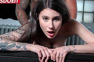 LETSDOEIT - Shy Brunette Hottie Has Rough Sex In Her First Porn Casting