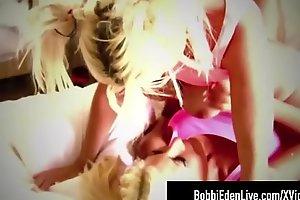 Beautiful Blonde Babe Bobbi Eden Tongue Fucks Puma Swede!