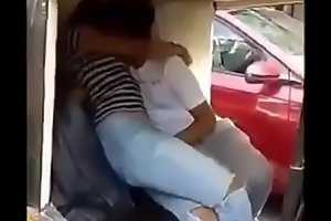 Indian Couples doing sex and kiss in Riksha