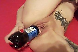 Slut Lucy bottle fuck