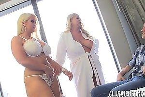 Pornstar Alura Jenson has a threesome with Karen Fisher