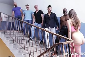 Amirah Adara gets Destroyed by 5 Cocks including a BBC