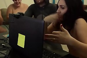 Hot couple playing sex games on webcam  IV 041