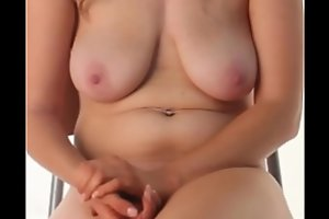 Beautiful Breasts - Naked Woman Sitting (with Psalms)