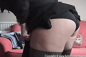 British mature wife and mother showing her goods for bill money.