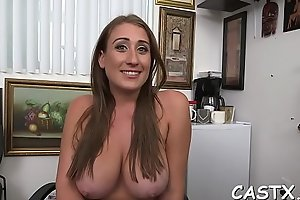 Exquisite young brunette Skyler Luv with firm natural tits fucks