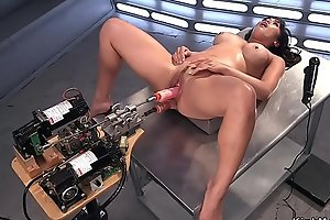 Busty Asian Milf gets db fucking machine