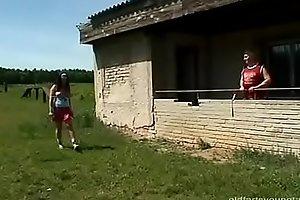Horny Football Training Tereza