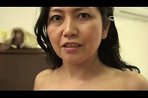 Happy House - Japanese Granny Azusa Mayumi Strips in Her Home