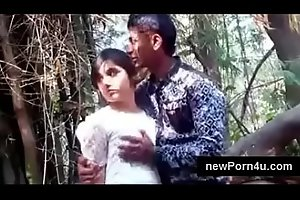 Most Beautiful and cute Indian girl kiss and boob pressed by bf at jungle at newPorn4u xxx porn video