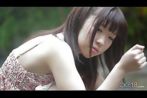 Shy Japanese teen angel first time erotic outdoor tease