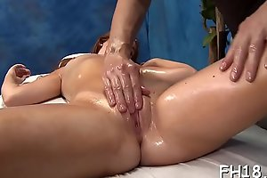 Hot sizzling gets a twat massage then fucked hard!