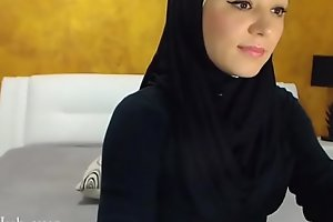 Arab hijab slut gang  and masturbation on cam