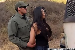 Big booty establishment and role of cop blowjob Stunning Mexican floozie