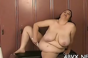 Big tits babe extreme thraldom in slutty home scenes