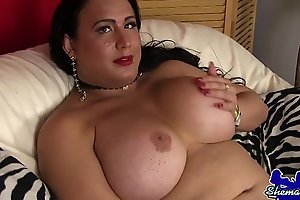 Of age wanking tgirl pleasures her dick