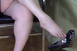 Black High Heel Dangle