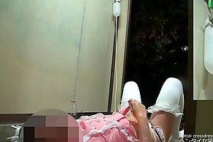 【女装】おしっこ&牛乳浣腸 噴水オナニー|えりな【変態】