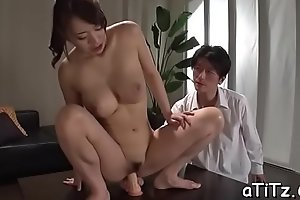 Large boobs japanese darling shows deficient keep her ultra titillating butt