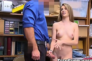 Teenie Kimmy Granger caught for thievery screwed with the addition of jizzed on