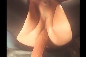 Fem unconcerned anal stretching