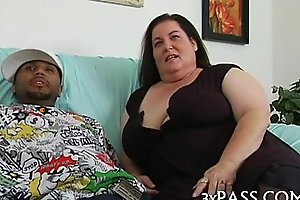 Man bangs sexy corpulent hottie