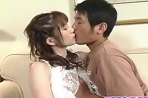 Hina busty gets cum on mouth after frigging