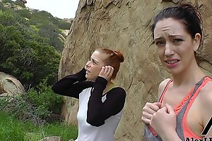 Hottest Hiking 3some! Alex Legend Fucks Sarah Shevon and Penny Pax!