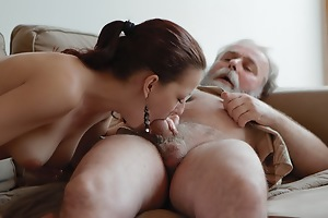 Ilona and her sexy lover are having a great time, and he is on his mobile when he invites his older friend over to play with her