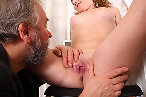 Sveta and her boyfriend bring in an older lover who loves younger women. She gets her top lifted off and he loves petite younger women to make love to.