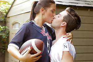 Sports practice turns into a hardcore pussy pounding as Alina Lopez peels off her clothes for a sweet and sexy game
