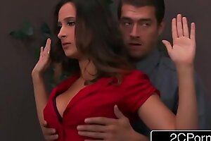 Declaratory Bimbo Ashley Adams Pounded Hard by Duo Security Guards