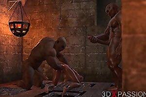 Жестокая оргия в подземелье. Об увлечении Селины никто не знает. 3D анимация